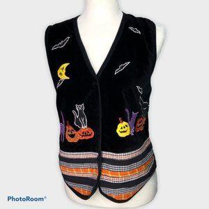 Vintage Halloween Vest Victoria Jones * Size Small